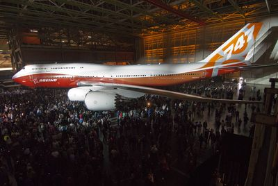 Nowy jumbo jet - Boeing 747-8 Intercontinental (fot. Bloomberg)